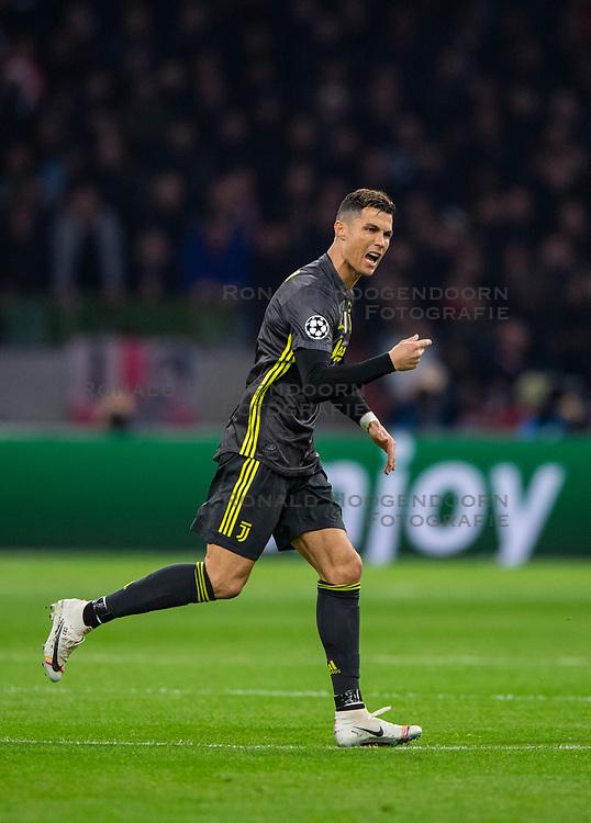 10-04-2019 NED: Champions League AFC Ajax - Juventus,  Amsterdam<br /> Round of 8, 1st leg / Ajax plays the first match 1-1 against Juventus during the UEFA Champions League first leg quarter-final football match / Cristiano Ronaldo #7 of Juventus