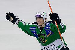 Tomi Mustonen (Moser Medical Graz 99ers, #21) during ice-hockey match between HDD Tilia Olimpija and Moser Medical Graz 99ers in 21st Round of EBEL league, on November 21, 2010 at Hala Tivoli, Ljubljana, Slovenia. (Photo By Matic Klansek Velej / Sportida.com)