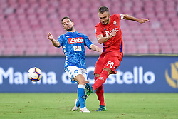 September 15, 2018 - Dries Mertens of SSC Napoli is challenged by German Pezzella of ACF Fiorentina during the Serie A match between Napoli and Fiorentina at Stadio San Paolo, Naples, Italy on 15 September 2018. Photo by Giuseppe Maffia. (Credit Image: © AFP7 via ZUMA Wire)