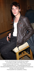 Actor JONATHAN RHYS-MEYERS at a party in London on 29th June 2003. PKY 137