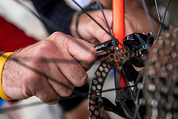 10-09-2017 FRA: BvdGF Tour du Mont Blanc day 1, Beaufort <br /> Vandaag vertrekken we vanuit Papendal in Arnhem naar naar het plaatsje Beaufort (nabij Chamonix) in Frankrijk / John, item fietsen maken