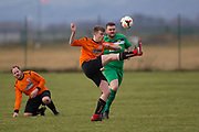 DUSC (tangerine) v Hilltown Hotspurs in the Dundee Saturday Morning Football League at Riverside