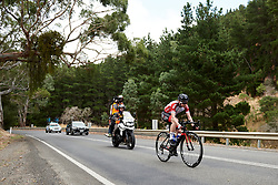 Marieke van Witzenburg (NED) in a solo move on Stage 1 of 2020 Santos Women's Tour Down Under, a 116.3 km road race from Hahndorf to Macclesfield, Australia on January 16, 2020. Photo by Sean Robinson/velofocus.com