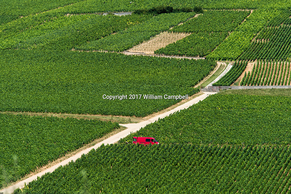 Wine vineyards near the French village Pernand-Vergelesses which has 8  Grand Cru Climates in the wine region of Burgundy.