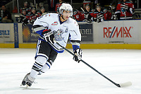 KELOWNA, CANADA, OCTOBER 22:  Kevin Sundher #9 of the Victoria Royals skates on the ice as the Victoria Royals visited the Kelowna Rockets on October 22, 2011 at Prospera Place in Kelowna, British Columbia, Canada (Photo by Marissa Baecker/shootthebreeze.ca) *** Local Caption ***Kevin Sundher;