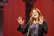 Grammy winning singer songwriter Rosanne Cash headlines the American Roots Music Festival in the Venetian Theater at Caramoor in Katonah New York on June 28, 2014. <br /> (photo by Gabe Palacio)