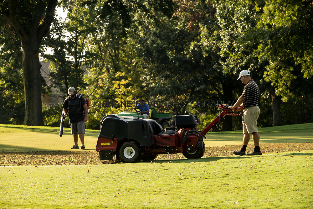 9/25/17 9:03:38 AM -- Bunkers and greens on Cedar Ridge Country Club for Jonesplan. <br /> <br /> Photo by Shane Bevel