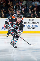 KELOWNA, CANADA - OCTOBER 9: Gordie Ballhorn #4 of Kelowna Rockets skates against the Victoria Royals on OCTOBER 9, 2015 at Prospera Place in Kelowna, British Columbia, Canada.  (Photo by Marissa Baecker/Getty Images)  *** Local Caption *** Gordie Ballhorn;