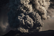 Iceland's Eyjafjallajokull volcano continuous eruption, spewing tephra and an ash cloud that drift toward continental Europe. 09 May 2010.