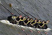Chiswick. GREAT BRITAIN,  Clare BC [Cambs], approaching the start, from, Chiswick Bridge, during the 2007 Women's Head of the River Race,  raced over the Championship Course, [reverse] on the River Thames, London, on SAT 17.03.2007,  [Photo Peter Spurrier/Intersport Images]  [Mandatory Credit, Peter Spurier/ Intersport Images]. , Rowing Course: River Thames, Championship course, Putney to Mortlake 4.25 Miles,