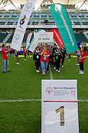 Serbia SO team while medal ceremony during the 2013 Special Olympics European Unified Football Tournament in Warsaw, Poland.<br /> <br /> Poland, Warsaw, June 08, 2012<br /> <br /> Picture also available in RAW (NEF) or TIFF format on special request.<br /> <br /> For editorial use only. Any commercial or promotional use requires permission.<br /> <br /> <br /> Mandatory credit:<br /> Photo by © Adam Nurkiewicz / Mediasport