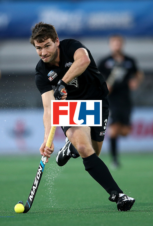 JOHANNESBURG, SOUTH AFRICA - JULY 11:  David Brydon of New Zealand controls the ball during day 2 of the FIH Hockey World League Semi Finals Pool A match between New Zealand and Japan at Wits University on July 11, 2017 in Johannesburg, South Africa.  (Photo by Jan Kruger/Getty Images for FIH)
