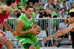 Bostjan Nachbar of Slovenia during friendly basketball match between National teams of Slovenia and Croatia of Adecco Ex-Yu Cup 2012 as part of exhibition games 2012, on August 4, 2012, in Arena Stozice, Ljubljana, Slovenia. (Photo by Matic Klansek Velej / Sportida)