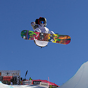 Yiwei Zhang, China, in action during the Men's Half Pipe competition at the Burton New Zealand Open 2011 held at Cardrona Alpine Resort, Wanaka, New Zealand, 9th August 2011. Photo Tim Clayton