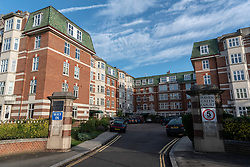 © Licensed to London News Pictures. 27/09/2019. London, UK. A view of Haven Green Court where Russian national, Serafima Meshaka, died from suspicious head injuries on Wednesday September 18th 2019. Ms Meshaka was a company director for Guide and Guardian UK. Her husband, Michel Meshka stated the murder was being investigated at state level. Photo credit: Ray Tang/LNP