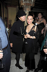 Left to right, VICTORIA FERNANDEZ and MARGARITA HERNANDEZ at a party to celebrate the launch of Atelier-Mayer.com held at 83 Princedale Road, London W11 on 15th January 2009.