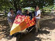 "This 2007 Yamaha Morphous 250cc scooter named ""The Morphoenix"" was designed by Hamilton Middle School eighth-grader Luis Morales and transformed by Ms. Hernandez's seventh- and eight-grade art classes."