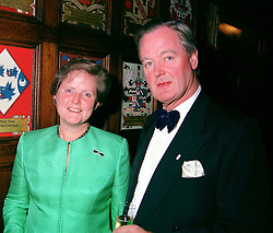 DAME MARY HOGG and her husband MR ERIC KOOPS, at a concert in London on 5th October 2000.OHS 28
