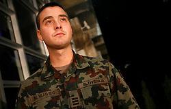 PRISTINA, KOSOVO - DECEMBER 14 - Slovenski vojak M. Rijavec, del enot UNMIK, na gala otvoritvi  delovanja drugega mobilnega operaterja IPKO, ki je v 67% lasti Telekoma Slovenije.