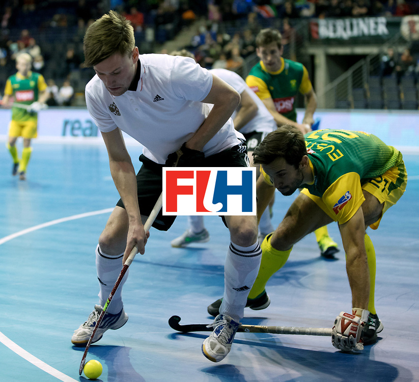 BERLIN - Indoor Hockey World Cup<br /> Men: Russia - South Africa<br /> foto: KURAEV Dmitrii.<br /> COPYRIGHT WILLEM VERNES