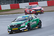 Ciceley Motorsport Mercedes Benz A-Class 15 Tom Oliphant and Ciceley Motorsport Mercedes Benz A-Class 15 Tom Oliphant during the BTCC media day at Donington Park, Castle Donington, United Kingdom on 27 March 2018. Picture by Craig McAllister.