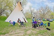 Crow Indian Reservation, Montana, Peyote Tipi, Lucy Real Bird graduation celebration, Henry, Richard, Lanny, Mark Real Bird, and Bob Pickett