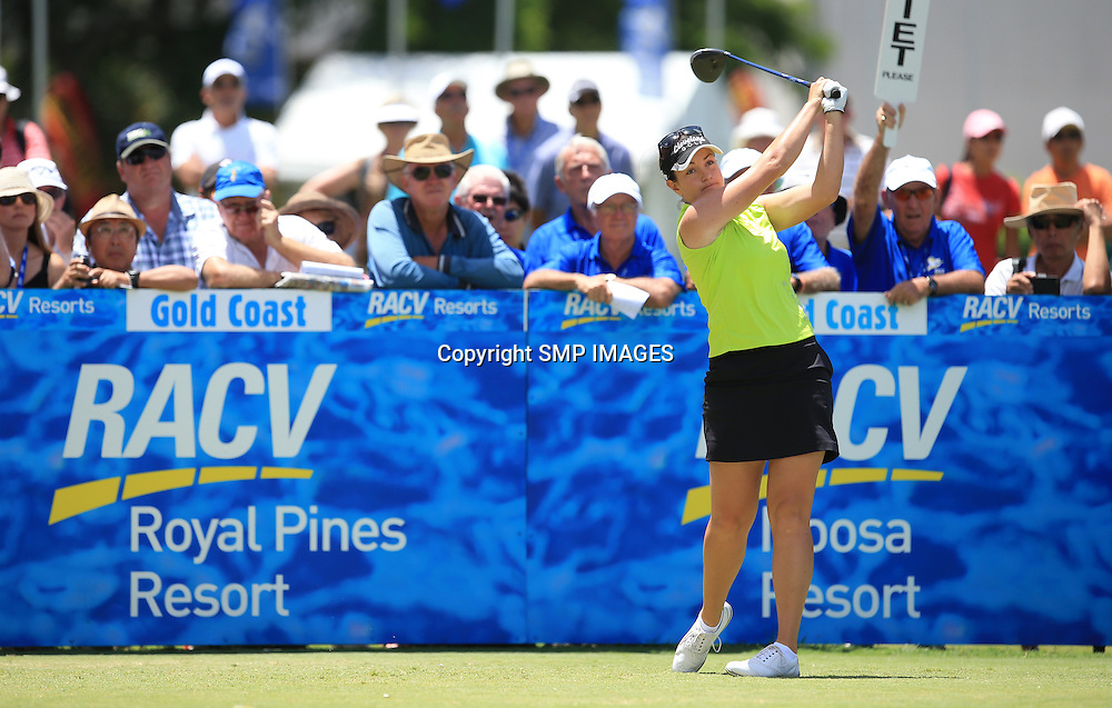 REBECCA ARTIS (AUS) - PHOTO : SMP IMAGES / ALPGA MEDIA - Action from the the 2015 RACV Australian Ladies Masters being held at Royal Pines Resort on Queenslands Gold Coast. This image is for Editorial Use only. No further image use or third party sales are allowed with out the written consent of the Mananger SMP IMages and or the CEO of the LPGA Tour. Photo: SMP Images / LPGA Media