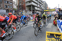 The start of the 2019 Ronde Van Vlaanderen 270km from Antwerp to Oudenaarde, Belgium. 7th April 2019.<br /> Picture: Eoin Clarke | Cyclefile<br /> <br /> All photos usage must carry mandatory copyright credit (© Cyclefile | Eoin Clarke)