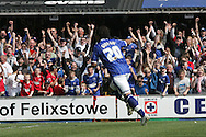Ipswich - Sunday Aprll 19th 2009:Ipswich's Giovani Dos Santos puts his side ahead from the penalty spot and celebrates during the Coca Cola League Championship match at Portman Road, Ipswich. (Pic by Daniel Chesterton/Focus Images)