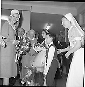 1961 - Princess Grace and Prince Rainier at Our Lady of Lourdes Hospital, Drogheda