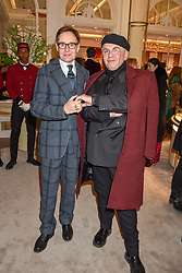Nick Faulkes and Sascha Lilac at the reopening of the Cartier Boutique, New Bond Street, London, England. 31 January 2019. <br /> <br /> ***For fees please contact us prior to publication***