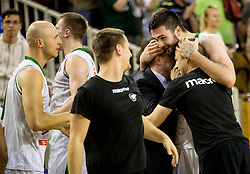 Nikola Jankovic #12 of KK Union Olimpija celebrates during basketball match between KK Union Olimpija and KK Rogaska in 4th Final game of Liga Nova KBM za prvaka 2016/17, on May 24, 2017 in Hala Tivoli, Ljubljana, Slovenia. Photo by Vid Ponikvar / Sportida