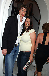FIFI TRIXIBELLE GELDOF and JOE WICKES at the launch of Friday Nights at Mamilanji - Chelsea's newest and most exclusive members club, 107 Kings Road, London SW3 hosted by Charlie Gilkes and Duncan Stirling held on 29th July 2005.<br />