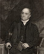 Olinthus Gilbert Gregory (1774-1841) English mathematician and astronomer, born at Yaxley, Huntingdonshire, England. Mathematical master at the Woolwich Military College (1802-1841). One of the founders of the Royal Astronomical Society (1820). Engraving.