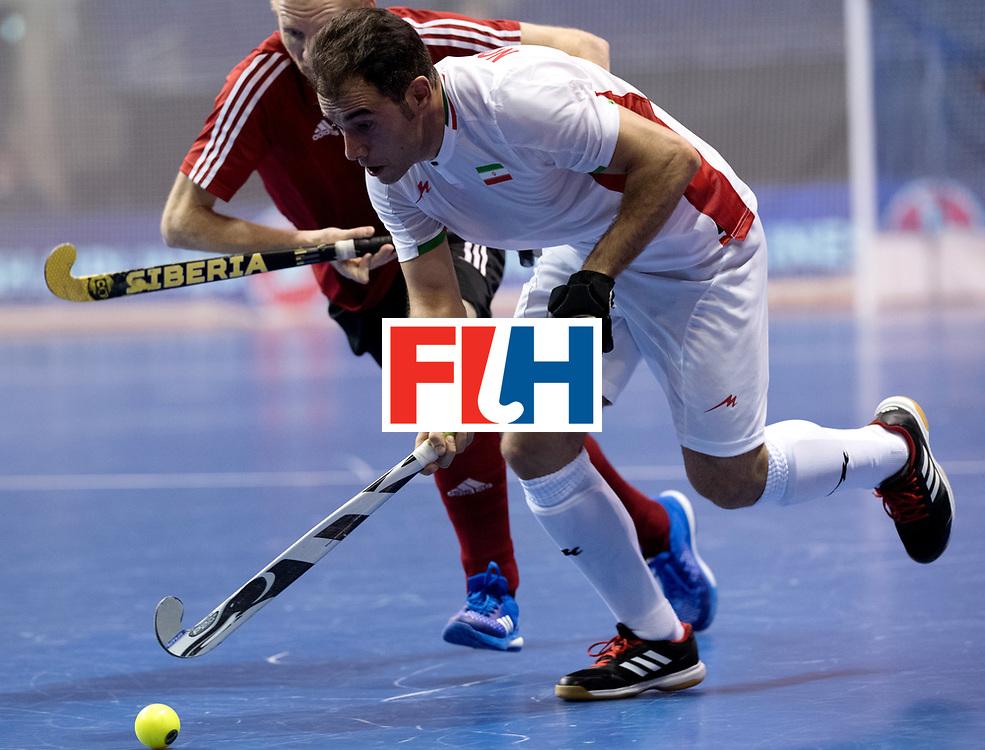 BERLIN - Indoor Hockey World Cup<br /> Men: Iran - Russia<br /> foto: NOROUZZADEH Reza.<br /> WORLDSPORTPICS COPYRIGHT FRANK UIJLENBROEK