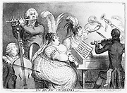 The Pic-Nic Orchestra. James Gillray cartoon of 1802