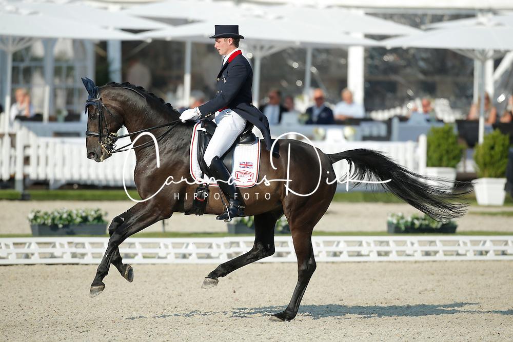Todd Ryan, (GBR), Charlex Eskebjerg<br /> Grand Prix U25<br /> CDIO Hagen 2015<br /> © Hippo Foto - Stefan Lafrentz