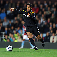 Joleon Lescott<br /> Manchester City 2009/10<br /> Aston Villa V Manchester City (1-1_ 05/10/09<br /> The Premier League<br /> Photo Robin Parker Fotosports International
