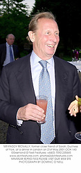 MR PADDY MCNALLY, former close friend of Sarah, Duchess of York, at a dinner in London on 21st May 2001.OOK 160