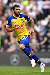 """Southampton's Charlie Austin during a pre season friendly match at Pride Park, Derby. PRESS ASSOCIATION Photo. Picture date: Saturday July 21, 2018. Photo credit should read: Anthony Devlin/PA Wire. EDITORIAL USE ONLY No use with unauthorised audio, video, data, fixture lists, club/league logos or """"live"""" services. Online in-match use limited to 75 images, no video emulation. No use in betting, games or single club/league/player publications."""