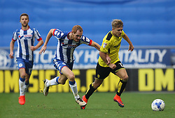 Shaun MacDonald of Wigan Athletic (C) and Jamie Ward of Burton Albion (R) in action - Mandatory by-line: Jack Phillips/JMP - 15/10/2016 - FOOTBALL - DW Stadium - Wigan, England - Wigan Athletic v Burton Albion - EFL Championship