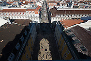 Portugal. Lisbon. elevated view on Praca do Commercio