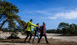 18-03-2018 NED: We hike to change diabetes, Soest<br /> Training voor de Camino 2018 op de Soesterduinen / track hiking lopen zand Eric, Wanda, Petra