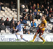 Shot or cross from Paul McGinn? - Motherwell v Dundee, SPFL Premiership at Fir Park<br /> <br />  - &copy; David Young - www.davidyoungphoto.co.uk - email: davidyoungphoto@gmail.com