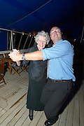 "Last dances aboard after the Farewell Gala Dinner. Christian Mørck and ""Dotty""."