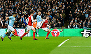 Goal - David Silva (21) of Manchester City scores a goal to give a 0-3 lead during the EFL Cup Final match between Arsenal and Manchester City at Wembley Stadium, London, England on 25 February 2018. Picture by Graham Hunt.
