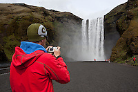 66 North trip. Skógafoss waterfall, South Iceland.