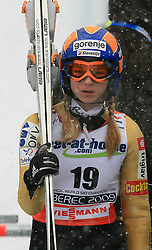 Spela Rogelj of Slovenia at Ski Jumping ladies Normal Hill Individual of FIS Nordic World Ski Championships Liberec 2008, on February 20, 2009, in Jested, Liberec, Czech Republic. (Photo by Vid Ponikvar / Sportida)
