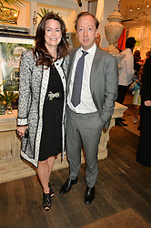 GEORDIE & KATHRYN GREIG at a party to celebrate the publication of India Hicks: Island Style hosted by Princess Marie-Chantal of Greece, Saffron Aldridge and Amanda Brooks has held at Ralph Lauren, 105-109 Fulham Road, London on 28th April 2015,