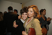 Johnny Cohen and Dorit Zarach, THE LOUISE T BLOUIN INSTITUTE OPENS WITH INAUGURAL EXHIBITION: James Turrell: A Life in Light Exhibition. OLAF ST. LONDON. 12 OCTOBER 2006.  -DO NOT ARCHIVE-© Copyright Photograph by Dafydd Jones 66 Stockwell Park Rd. London SW9 0DA Tel 020 7733 0108 www.dafjones.com